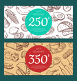 discount or voucher template with mexican vector image vector image