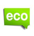eco green 3d realistic paper speech bubble vector image vector image