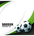 elegant football background with text space vector image