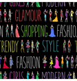 Fashion pattern text vector image