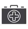 first aid kit box glyph icon medicine vector image vector image