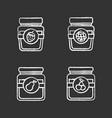 fruit preserves chalk icons set vector image