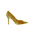 Gold shoe vector image vector image