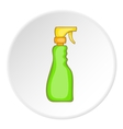 Green household spray bottle icon cartoon style vector image vector image