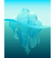 Iceberg in ocean vector image vector image