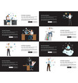 internet business pages set vector image vector image