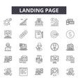 landing page line icons signs set vector image vector image