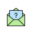 letter with question sign frequently asked vector image