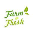 Logotype Farm Fresh vector image vector image