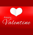 love card valentines day and paper cut heart vector image