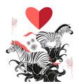 lovers zebras vector image