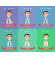 Man Set Avatar Userpics of Emotions vector image vector image