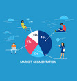 market segmentation infographic concept vector image vector image