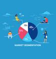 market segmentation infographic concept vector image