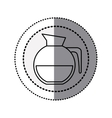 monochrome sticker contour in circular dot line vector image vector image