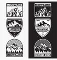 mountains logo badge 6 vector image vector image