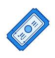 movie ticket line icon vector image vector image