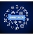 Music Shop Concept vector image vector image