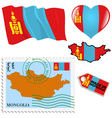 national colours of Mongolia vector image vector image