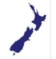 new zealand silhouette vector image