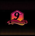 nine years anniversary celebration logotype 9th