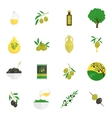 Olives icons flat vector image