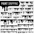 paint dripping liquid set abstract ink vector image vector image