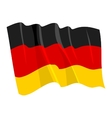 Political waving flag of germany vector image