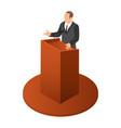politician speak icon isometric style vector image