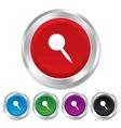 Pushpin sign icon Pin button vector image vector image