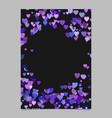 Random heart page border background design - love vector image