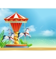 Realistic Carousel Background vector image vector image