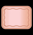 rose gold photo frame and border background vector image