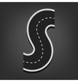S letter Road font vector image vector image