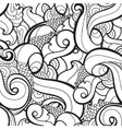 seamless wavy abstract pattern vector image vector image