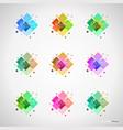 set of color design elements vector image
