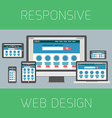 Set of flat design concepts Concept for responsive vector image vector image