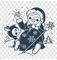 silhouette of santa claus baby vector image vector image