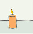 sketch a burning candle vector image vector image