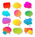 speech colorful bubble collection vector image vector image