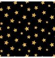 stars seamless pattern gold vector image