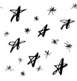 stars snowflakes winter pattern vector image