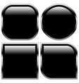 stylish black glossy shapes shiny buttons vector image