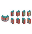 suburban city buildings set vector image vector image