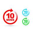 ten minutes icon set vector image vector image