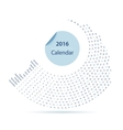 The 2016 calendar vector image