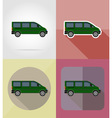 transport flat icons 09 vector image