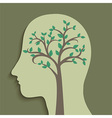 Tree in Head vector image vector image