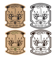 vintage labels of whiskey with copper whiskey vector image vector image