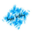 Watercolor greeting card - happy birthday